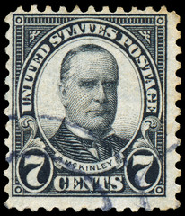 USA - CIRCA 1923: A stamp printed in USA shows President William