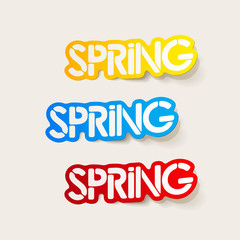 realistic design element: spring
