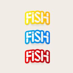 realistic design element: fish