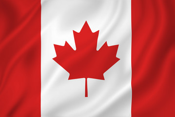 Photo sur Aluminium Canada Canada flag