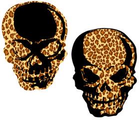ヒョウ柄の頭蓋骨