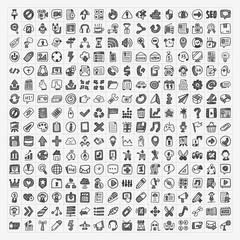 250 doodle web icons