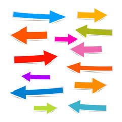 Paper Colorful Arrows Icon Set Illustration