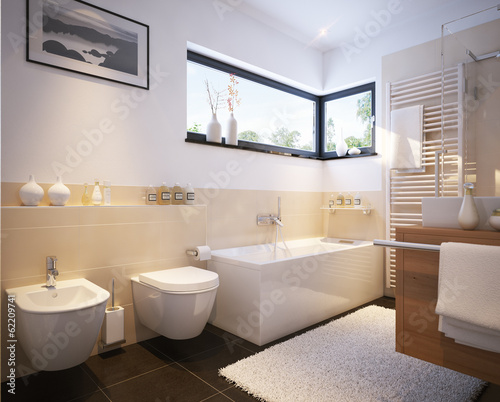 Kleines badezimmer in einfamilienhaus small modern for Kleines badezimmer modern