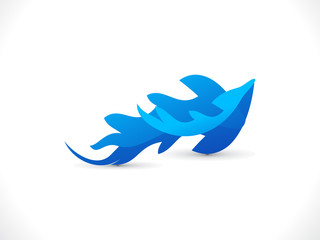 abstract blue wave icon