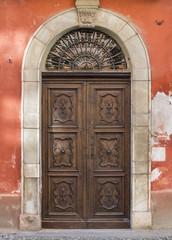 Old door in Saluzzo
