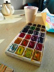 Amateur Watercolor Artist's Stuff