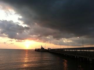 cloudy sunset at samui peir
