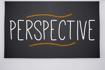 Perspective written on big blackboard
