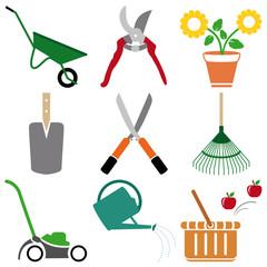 Photos illustrations et vid os de cisaille for Dessin outils jardinage