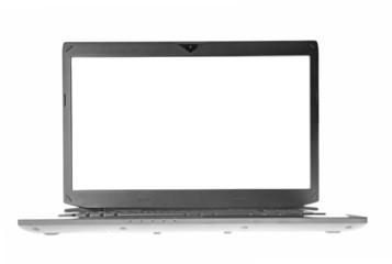 White laptop screen
