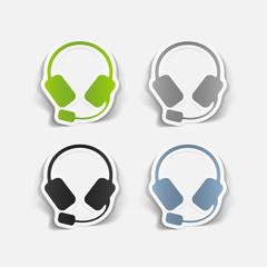 realistic design element: headphones