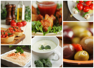 Appetiser collage