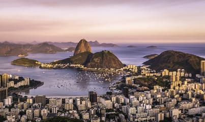 Sunset over Rio de Janeiro ,Brazil Fotomurales