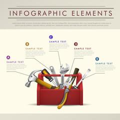 abstract toolbox theme infographics