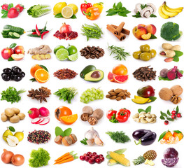 Poster Fruits Collection of fresh fruits and vegetables