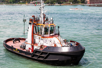 Tugboat in Venice Canal