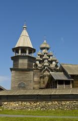 Wooden churches in Kizhi island, Russia