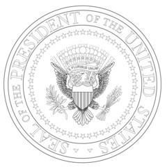 President Seal Outline