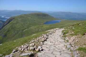 Path to the Ben Nevis summit