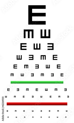 Snellen Eye Chart Test Used In Young Children Stock Image And
