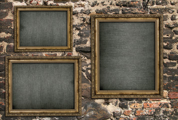 Triptych with empty canvas Wall mural