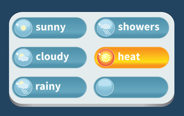 Forecast weather icon set (summer)