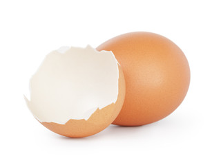 hen egg with eggshell