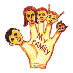 child's drawing of my family