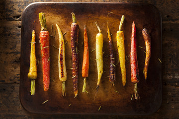 Colorful Multi Colored Roasted Carrots