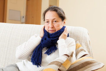 woman in warm scarf