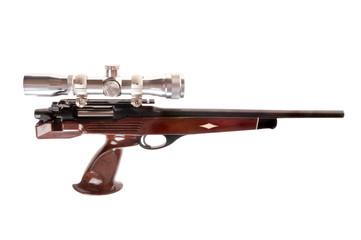 Interesting modern looking bolt action pistol in .223 caliber