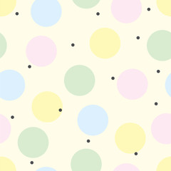 Cute polka dot. Vector seamless pattern.