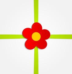 Karte Schleife Blume