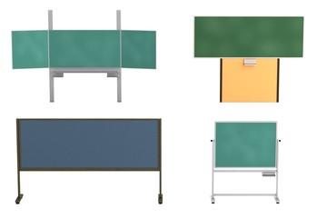 realistic 3d render of blackboards