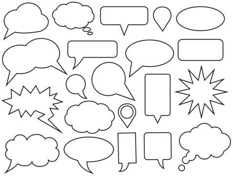 Set of vector speech bubbles