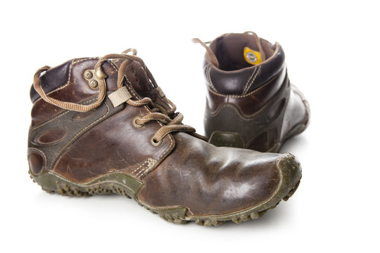 Work Boots-A pair of well worn Work Boots.