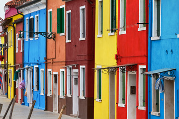 Burano famous for its colourful architecture.