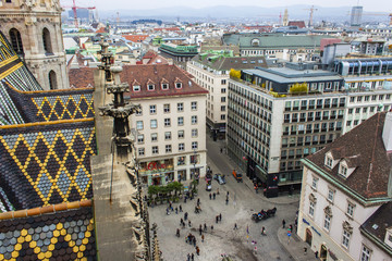 Vienna , Austria. City view from the tower of St. Stephen's