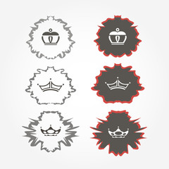 set of crowns. royal marks. vector