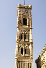 Bell tower and dome of the cathedral of Florence, Italy
