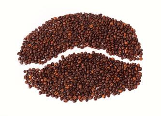Coffe beans shape coffe bean