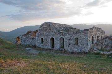 Ruins of castle walls, Berat, Albania