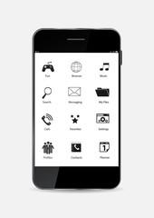 Black Mobile Phone Vector Illustration