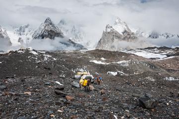 Trekking in Karakoram mountain range, Northern Pakistan.