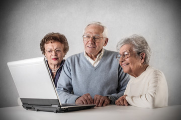 technological old people
