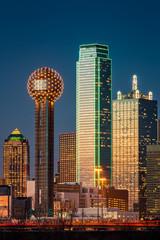 Fototapete - Dallas skyscrapers at sunset