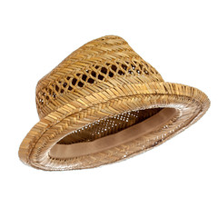 Male straw hat isolated