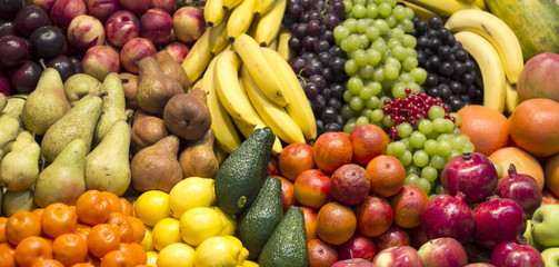 Colourful fruit arrangement