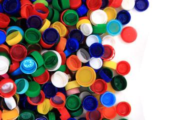 color plastic caps (from PET)